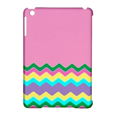 Easter Chevron Pattern Stripes Apple iPad Mini Hardshell Case (Compatible with Smart Cover)