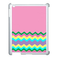 Easter Chevron Pattern Stripes Apple iPad 3/4 Case (White)