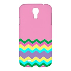 Easter Chevron Pattern Stripes Samsung Galaxy S4 I9500/I9505 Hardshell Case