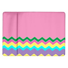 Easter Chevron Pattern Stripes Samsung Galaxy Tab 10.1  P7500 Flip Case
