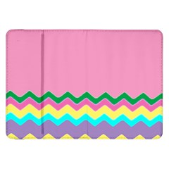 Easter Chevron Pattern Stripes Samsung Galaxy Tab 8.9  P7300 Flip Case
