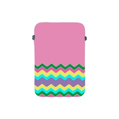 Easter Chevron Pattern Stripes Apple Ipad Mini Protective Soft Cases by Amaryn4rt