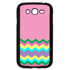 Easter Chevron Pattern Stripes Samsung Galaxy Grand DUOS I9082 Case (Black)