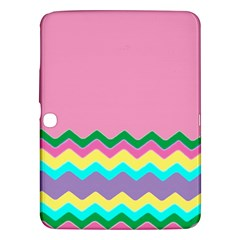 Easter Chevron Pattern Stripes Samsung Galaxy Tab 3 (10.1 ) P5200 Hardshell Case