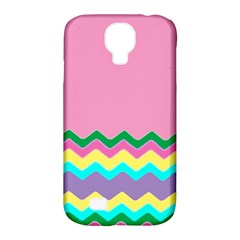 Easter Chevron Pattern Stripes Samsung Galaxy S4 Classic Hardshell Case (pc+silicone) by Amaryn4rt