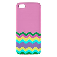 Easter Chevron Pattern Stripes iPhone 5S/ SE Premium Hardshell Case