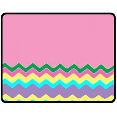 Easter Chevron Pattern Stripes Double Sided Fleece Blanket (Medium)