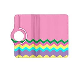 Easter Chevron Pattern Stripes Kindle Fire Hd (2013) Flip 360 Case by Amaryn4rt