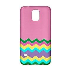 Easter Chevron Pattern Stripes Samsung Galaxy S5 Hardshell Case