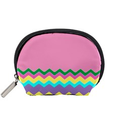 Easter Chevron Pattern Stripes Accessory Pouches (Small)