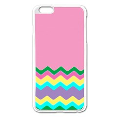 Easter Chevron Pattern Stripes Apple iPhone 6 Plus/6S Plus Enamel White Case