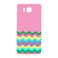 Easter Chevron Pattern Stripes Samsung Galaxy Alpha Hardshell Back Case