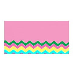 Easter Chevron Pattern Stripes Satin Wrap