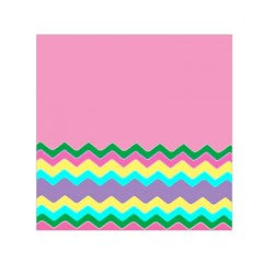 Easter Chevron Pattern Stripes Small Satin Scarf (Square)