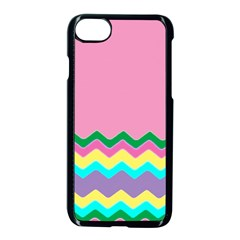 Easter Chevron Pattern Stripes Apple iPhone 7 Seamless Case (Black)
