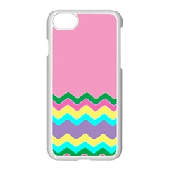 Easter Chevron Pattern Stripes Apple iPhone 7 Seamless Case (White) by Amaryn4rt