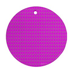 Clovers On Pink Ornament (round) by PhotoNOLA