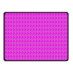 Clovers On Pink Fleece Blanket (small) by PhotoNOLA