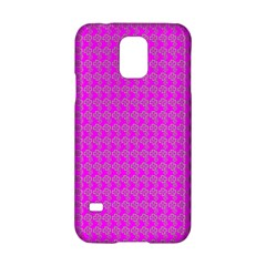 Clovers On Pink Samsung Galaxy S5 Hardshell Case  by PhotoNOLA