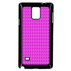 Clovers On Pink Samsung Galaxy Note 4 Case (black) by PhotoNOLA