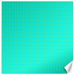 Clovers On Blue Canvas 12  X 12   by PhotoNOLA