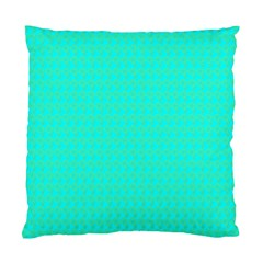 Clovers On Blue Standard Cushion Case (one Side) by PhotoNOLA