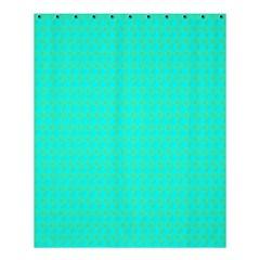 Clovers On Blue Shower Curtain 60  X 72  (medium)  by PhotoNOLA