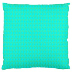 Clovers On Blue Large Cushion Case (two Sides) by PhotoNOLA