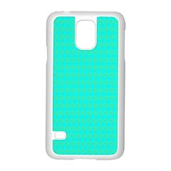 Clovers On Blue Samsung Galaxy S5 Case (white) by PhotoNOLA