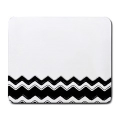 Chevrons Black Pattern Background Large Mousepads by Amaryn4rt
