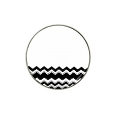 Chevrons Black Pattern Background Hat Clip Ball Marker (10 Pack) by Amaryn4rt