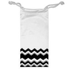 Chevrons Black Pattern Background Jewelry Bag by Amaryn4rt