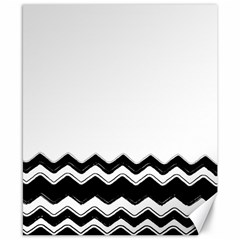Chevrons Black Pattern Background Canvas 8  X 10  by Amaryn4rt