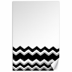Chevrons Black Pattern Background Canvas 24  X 36  by Amaryn4rt