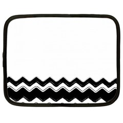 Chevrons Black Pattern Background Netbook Case (xxl)  by Amaryn4rt