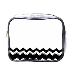 Chevrons Black Pattern Background Mini Toiletries Bags by Amaryn4rt