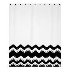 Chevrons Black Pattern Background Shower Curtain 60  X 72  (medium)  by Amaryn4rt