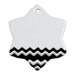 Chevrons Black Pattern Background Ornament (snowflake) by Amaryn4rt