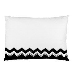 Chevrons Black Pattern Background Pillow Case (two Sides) by Amaryn4rt