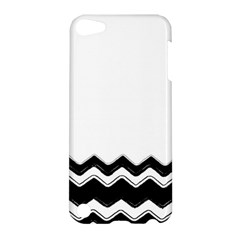 Chevrons Black Pattern Background Apple Ipod Touch 5 Hardshell Case by Amaryn4rt