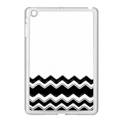 Chevrons Black Pattern Background Apple Ipad Mini Case (white) by Amaryn4rt