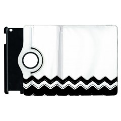 Chevrons Black Pattern Background Apple Ipad 3/4 Flip 360 Case by Amaryn4rt