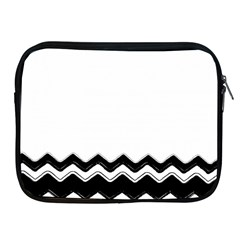 Chevrons Black Pattern Background Apple Ipad 2/3/4 Zipper Cases by Amaryn4rt