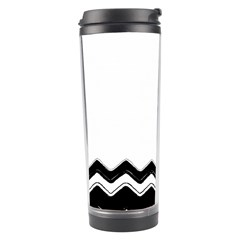 Chevrons Black Pattern Background Travel Tumbler by Amaryn4rt
