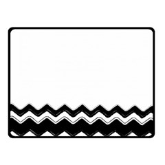 Chevrons Black Pattern Background Double Sided Fleece Blanket (small)  by Amaryn4rt