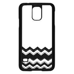 Chevrons Black Pattern Background Samsung Galaxy S5 Case (black) by Amaryn4rt
