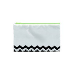Chevrons Black Pattern Background Cosmetic Bag (xs) by Amaryn4rt