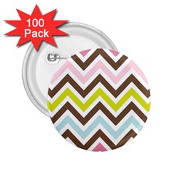 Chevrons Stripes Colors Background 2 25  Buttons (100 Pack)