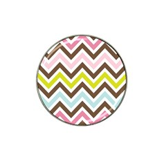 Chevrons Stripes Colors Background Hat Clip Ball Marker (10 Pack) by Amaryn4rt