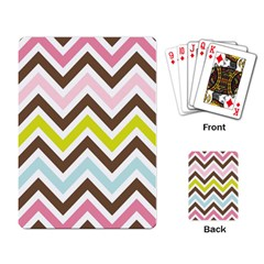 Chevrons Stripes Colors Background Playing Card by Amaryn4rt